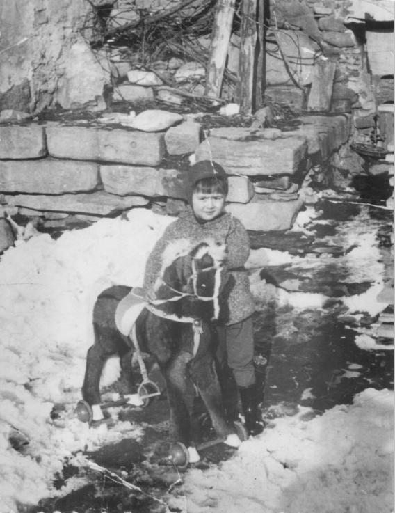 Nen jugant amb un cavall. 1962